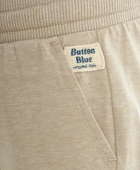 Бежевые трикотажные шорты Button Blue