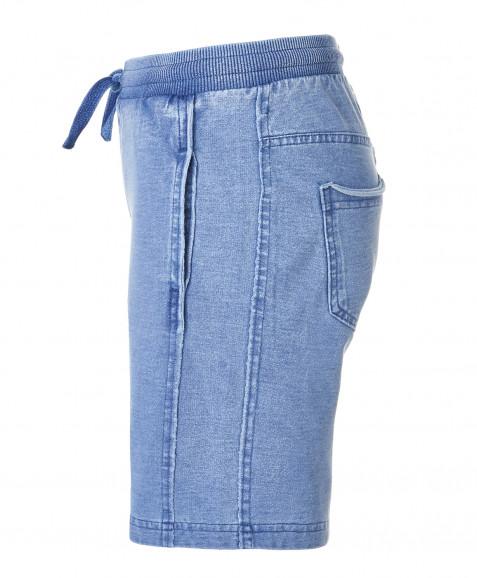 Синие трикотажные шорты Button Blue