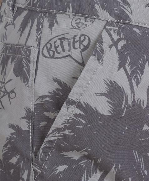 Серые бриджи с орнаментом Пальмы Button Blue