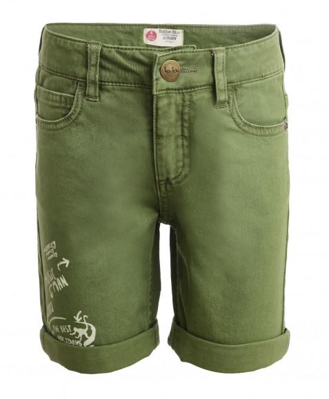 Зеленые шорты из твила Button Blue