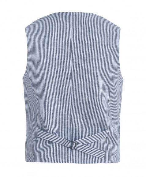 Бело-синий жилет в полоску Button Blue
