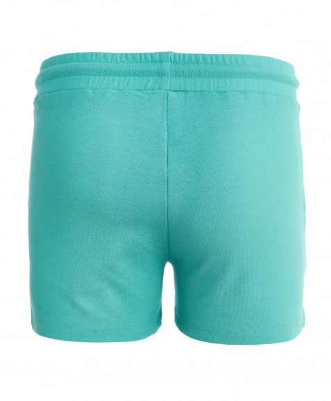 Ментоловые трикотажные шорты Button Blue