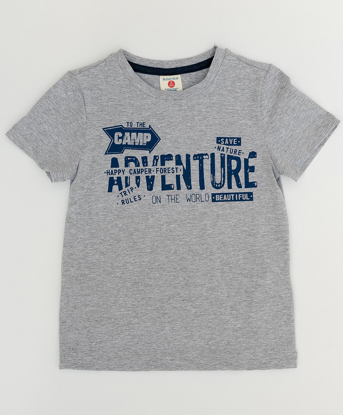 Купить 120BBBC12011900, Серая футболка с принтом Button Blue, серый, 134, Мужской, ВЕСНА/ЛЕТО 2020 (shop: GulliverMarket Gulliver Market)