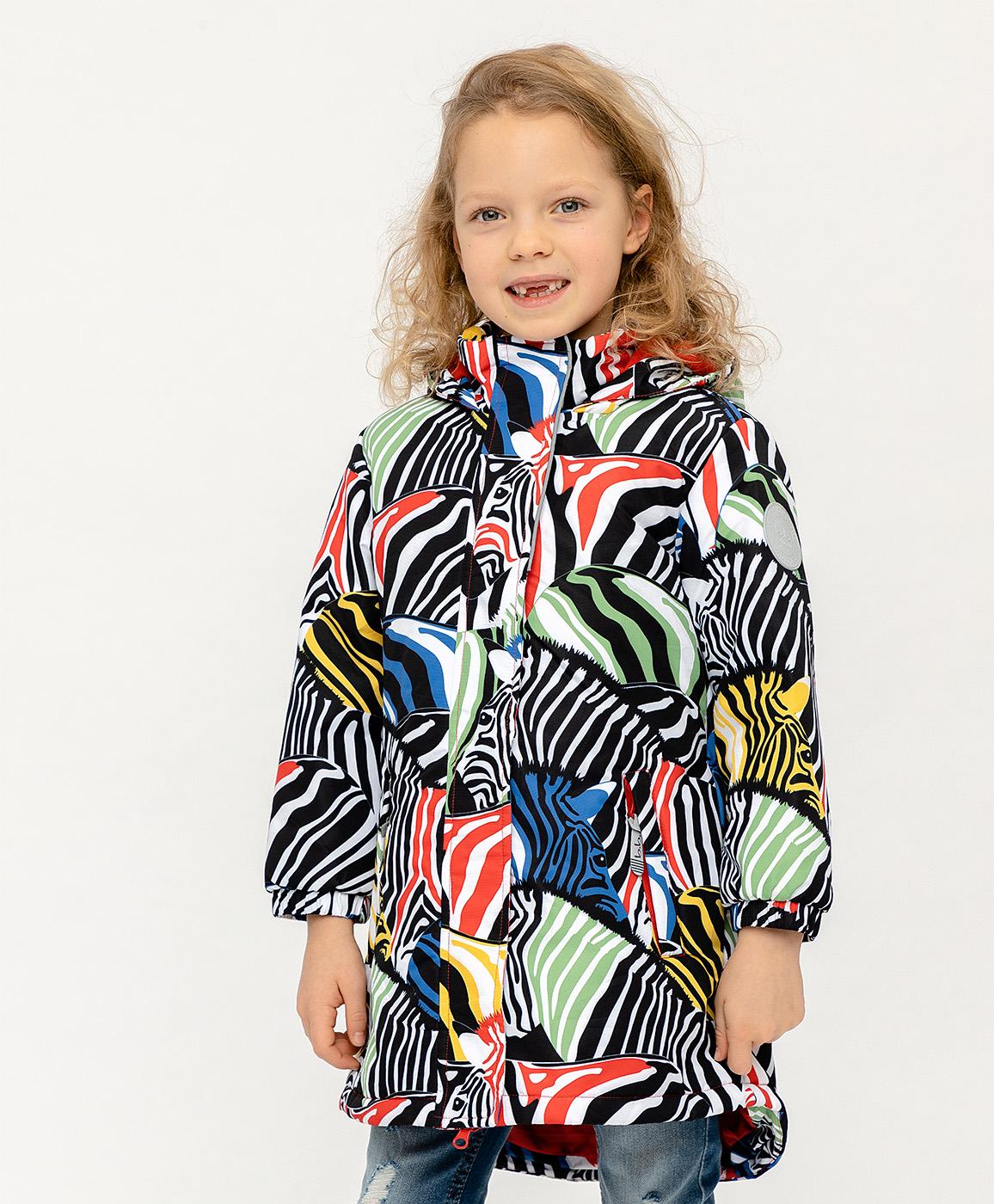 Купить 120BBGA45010007, Демисезонная куртка Active для девочки Button Blue, черный, 128, Женский, ВЕСНА/ЛЕТО 2020 (shop: GulliverMarket Gulliver Market)
