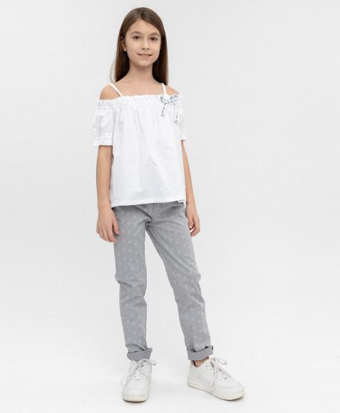 Белая блузка Button Blue