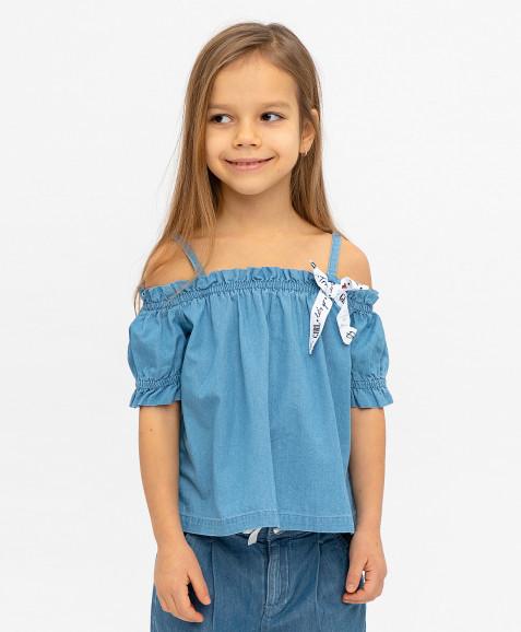 Джинсовая блузка Button Blue