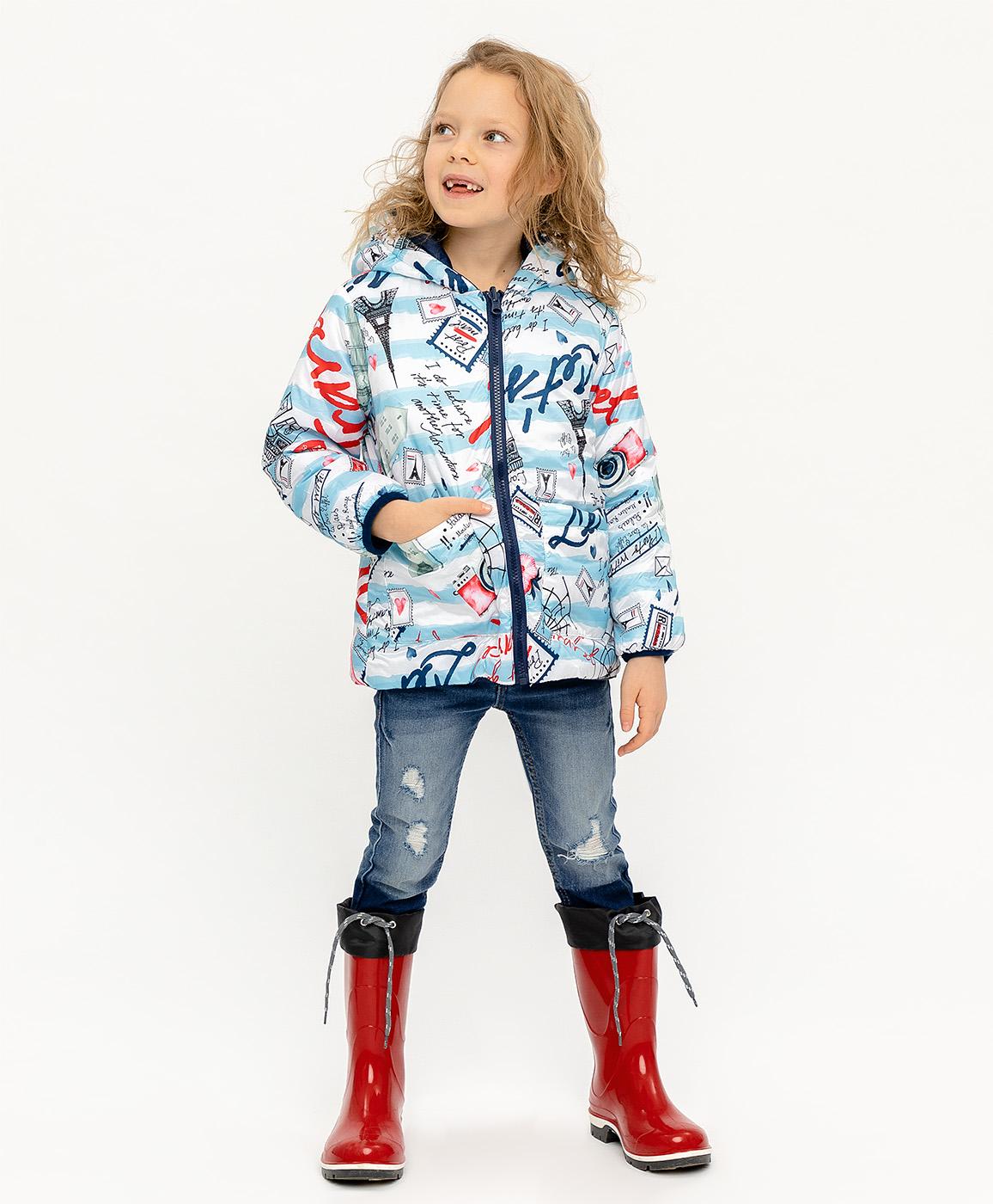 Купить 120BBGC41011013, Двухсторонняя демисезонная куртка Button Blue, голубой, 128, Женский, ВЕСНА/ЛЕТО 2020 (shop: GulliverMarket Gulliver Market)