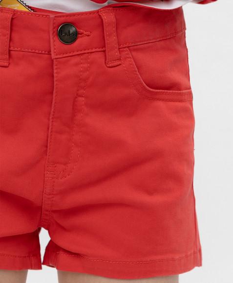 Красные твиловые шорты Button Blue