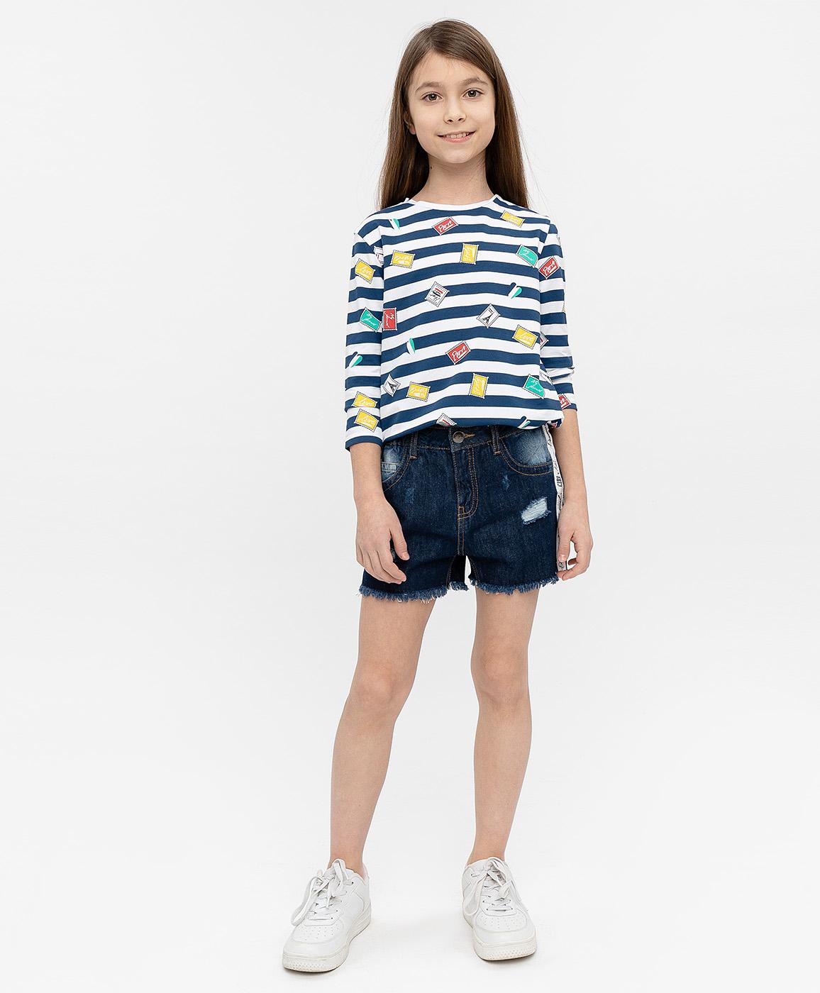 Купить 120BBGC6003D500, Синие джинсовые шорты Button Blue, синий, 98, Женский, ВЕСНА/ЛЕТО 2020 (shop: GulliverMarket Gulliver Market)