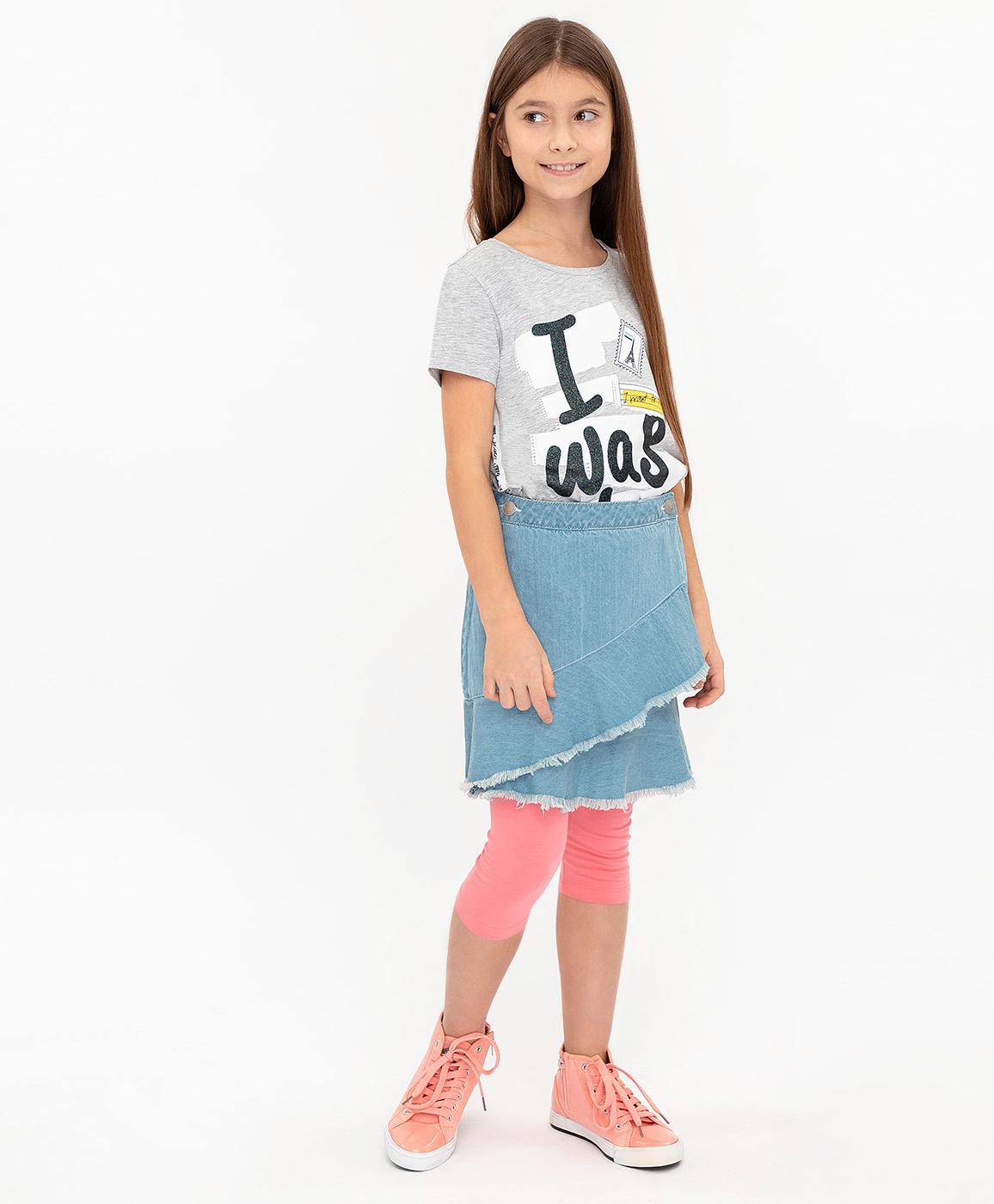 Купить 120BBGC6103D200, Джинсовая юбка Button Blue, голубой, 98, Женский, ВЕСНА/ЛЕТО 2020 (shop: GulliverMarket Gulliver Market)