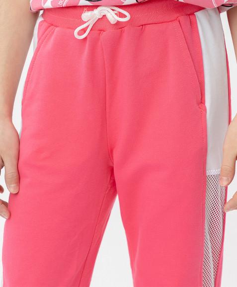 Розовые брюки с лампасами Button Blue