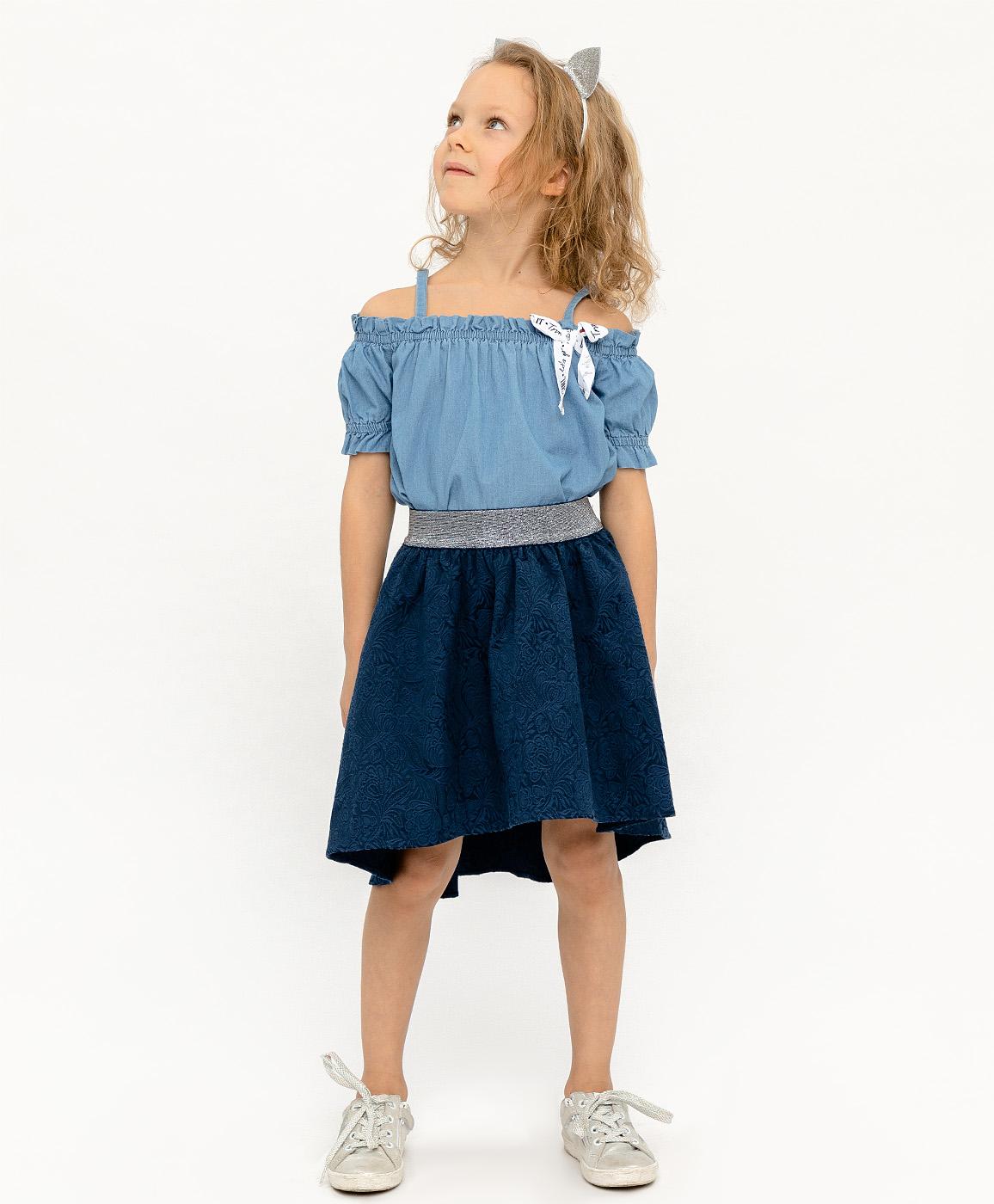 Купить 120BBGP61011000, Синяя жаккардовая юбка на резинке Button Blue, синий, 98, Женский, ВЕСНА/ЛЕТО 2020 (shop: GulliverMarket Gulliver Market)
