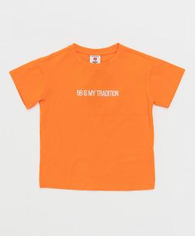 футболка button blue для мальчика, оранжевая