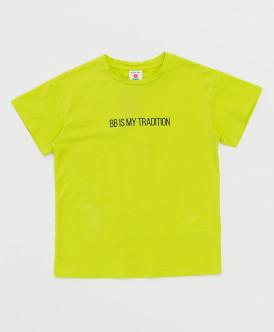 футболка button blue для мальчика, салатовая