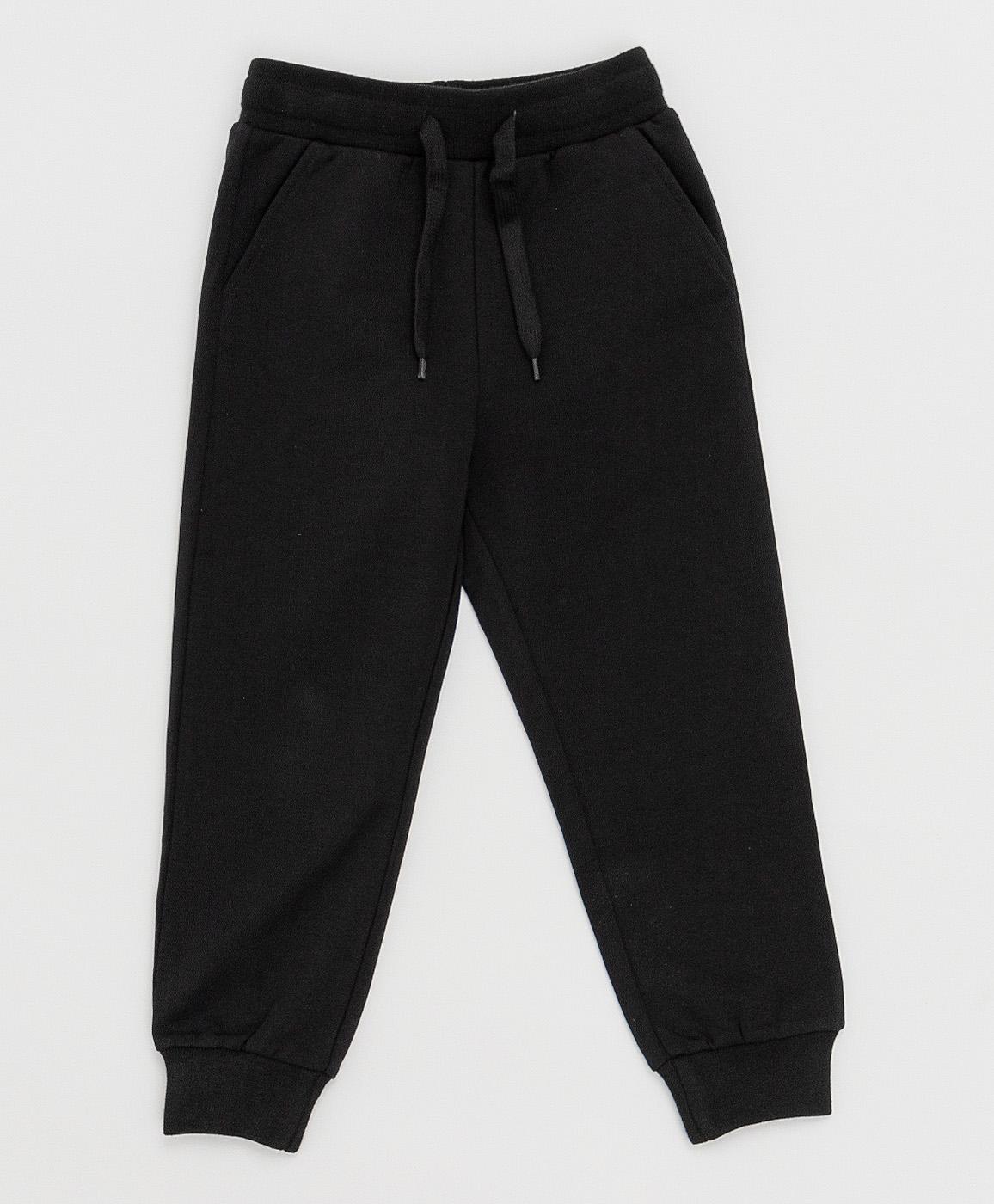 Купить 121BBBB56010800, Черные брюки Button Blue, черный, 134, Футер, Мужской, Весна, ВЕСНА/ЛЕТО 2021 (shop: GulliverMarket Gulliver Market)