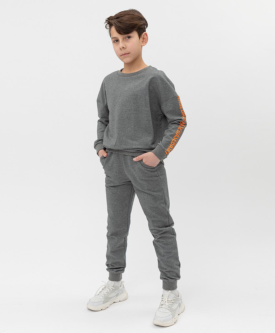 Купить 121BBBB56012300, Серые брюки Button Blue, серый, 134, Футер, Мужской, Весна, ВЕСНА/ЛЕТО 2021 (shop: GulliverMarket Gulliver Market)