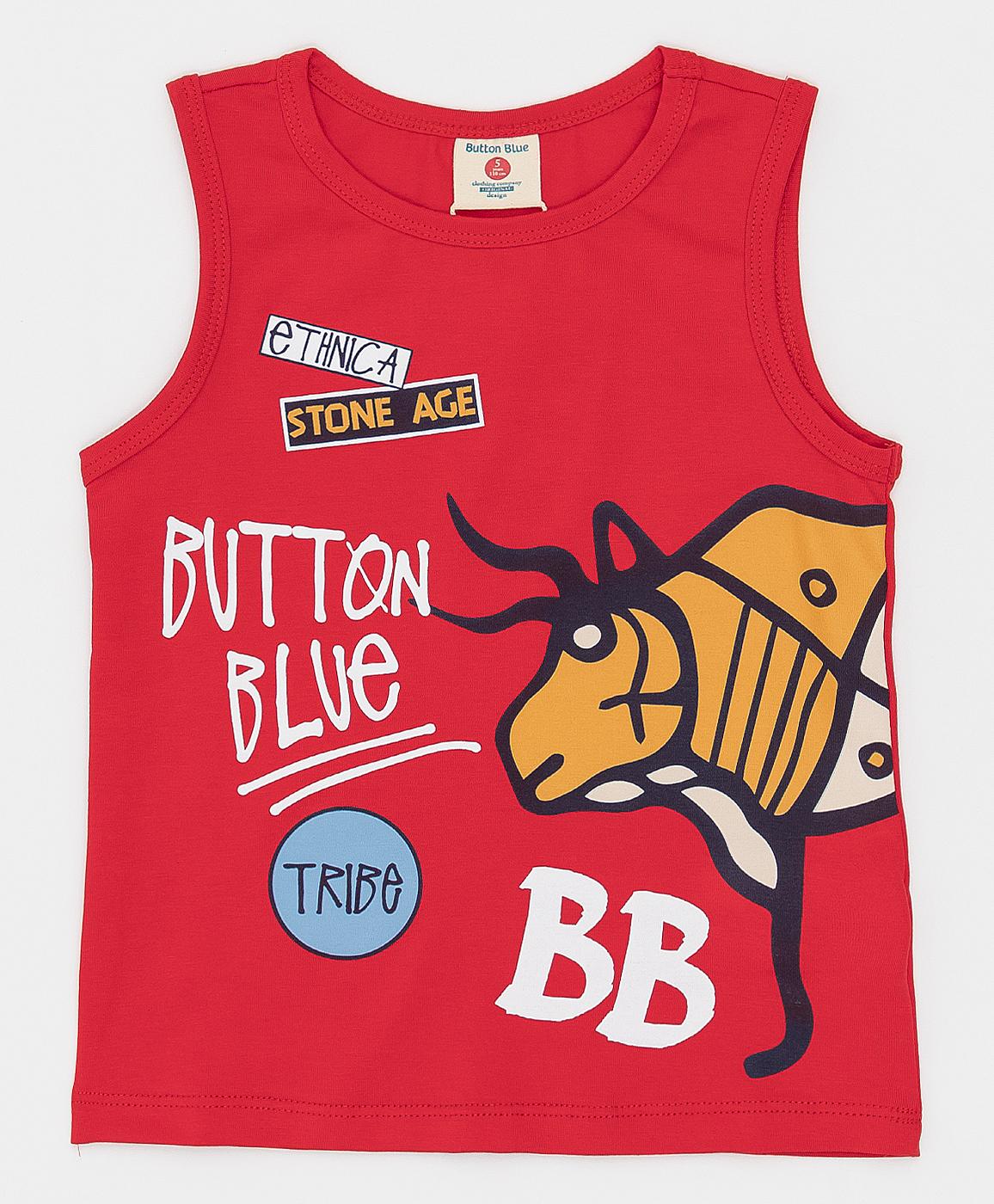 Купить 121BBBMC10033500, Красная майка Button Blue, красный, 104, Кроёный трикотаж, Мужской, Лето, ВЕСНА/ЛЕТО 2021 (shop: GulliverMarket Gulliver Market)