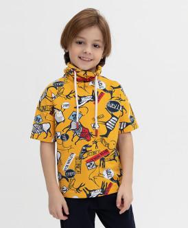 футболка button blue для мальчика, желтая