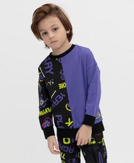 свитшот button blue для мальчика, фиолетовый