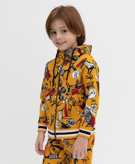 толстовка button blue для мальчика, желтая
