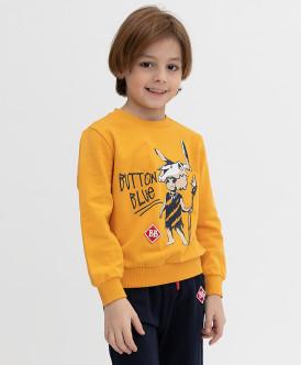 свитшот button blue для мальчика, оранжевый