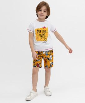 шорты button blue для мальчика, желтые