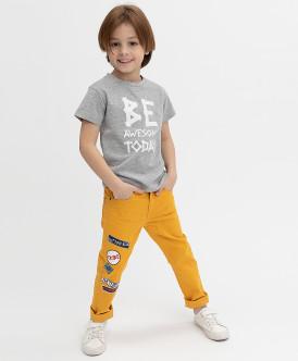 брюки button blue для мальчика, оранжевые