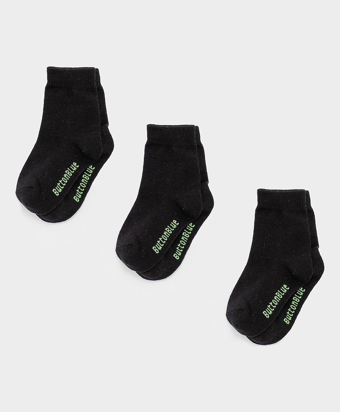Купить 121BBBMU85010800, Черные носки Button Blue, черный, 16-18, Мужской, ВЕСНА/ЛЕТО 2021 (shop: GulliverMarket Gulliver Market)