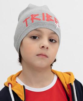 шапка button blue для мальчика, серая