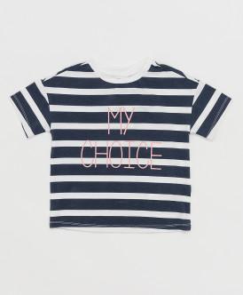 футболка button blue для девочки, черная