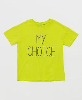 футболка button blue для девочки, салатовая
