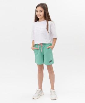 шорты button blue для девочки, зеленые