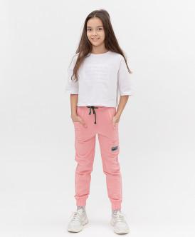 брюки button blue для девочки, розовые