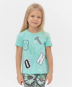 футболка button blue для девочки