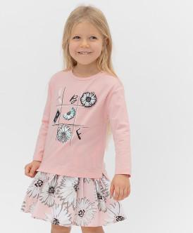Купить 121BBGMC12031200, Розовый лонгслив Button Blue, розовый, 110, Девочки