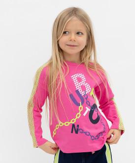 Купить 121BBGMC12041200, Розовый лонгслив Button Blue, розовый, 110, Девочки