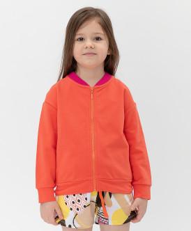толстовка button blue для девочки, оранжевая