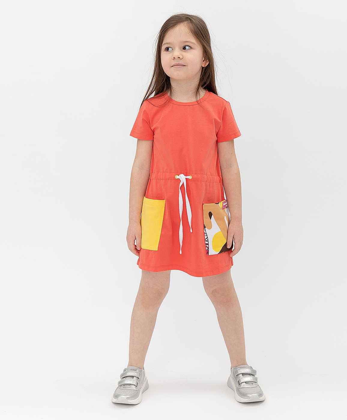 Купить 121BBGMC50073200, Оранжевое платье Button Blue, оранжевый, 122, Кроёный трикотаж, Женский, Лето, ВЕСНА/ЛЕТО 2021 (shop: GulliverMarket Gulliver Market)