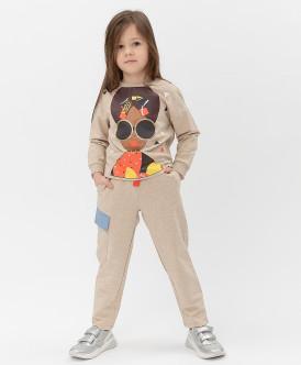 брюки button blue для девочки, песочные