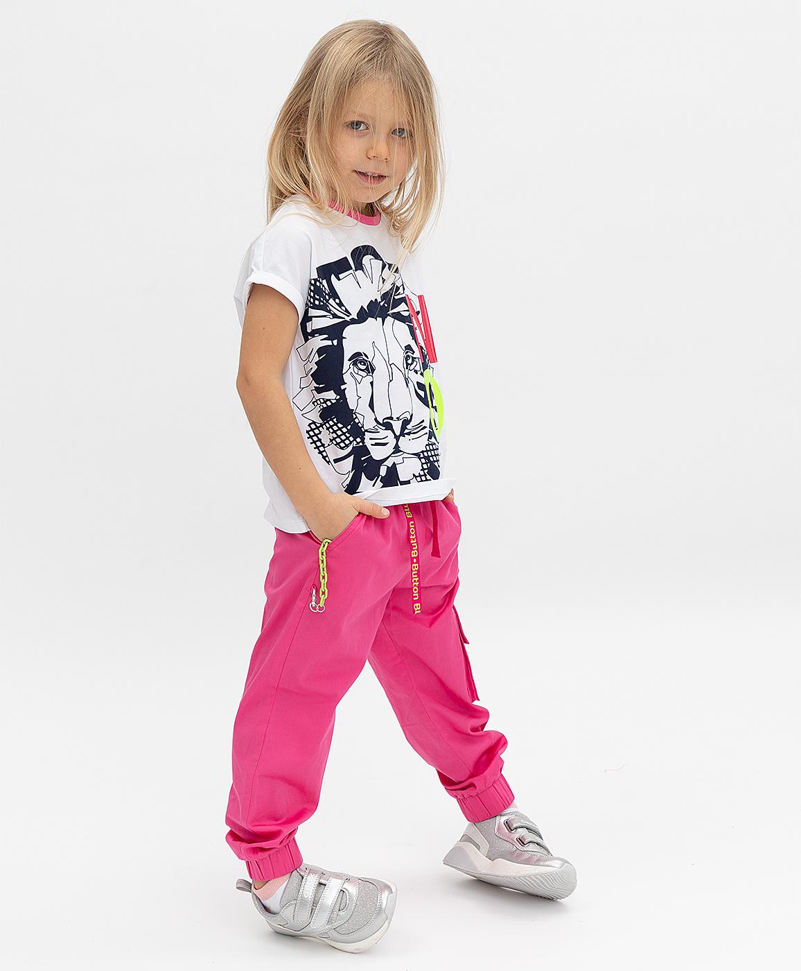 Купить 121BBGMC63051200, Розовые брюки Button Blue, розовый, 122, Поплин, Женский, Весна, ВЕСНА/ЛЕТО 2021 (shop: GulliverMarket Gulliver Market)