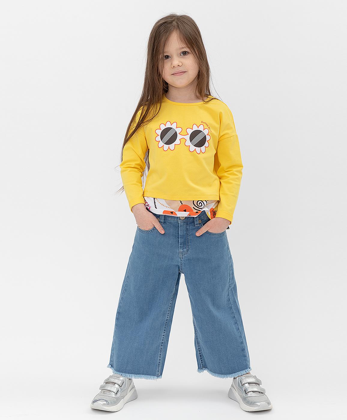 Купить 121BBGMC6308D200, Синие брюки Button Blue, синий, 122, Деним (Джинса), Женский, Лето, ВЕСНА/ЛЕТО 2021 (shop: GulliverMarket Gulliver Market)