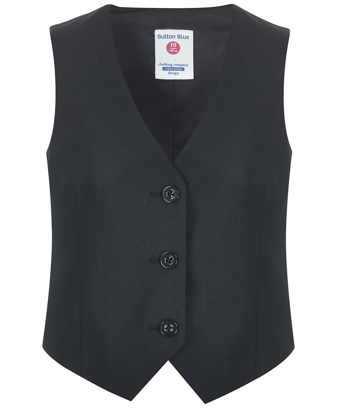 Купить 218BBGS47010800, Жилет Button Blue, черный, 122, Женский, ОСЕНЬ/ЗИМА 2018-2019 (shop: GulliverMarket Gulliver Market)