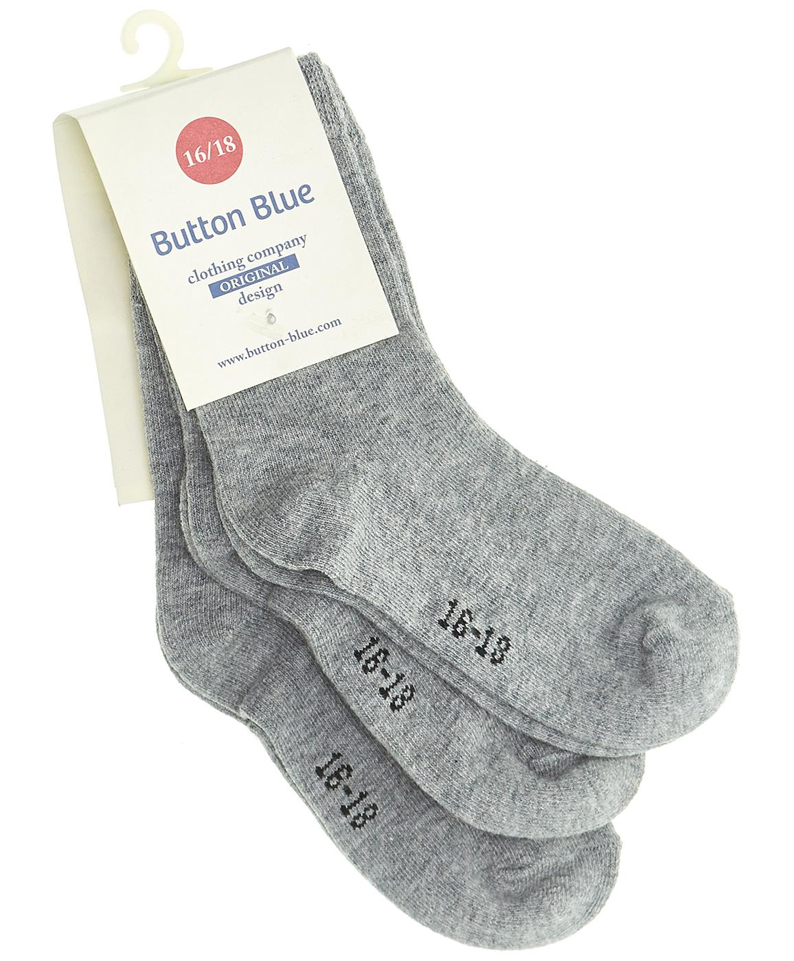 Купить 218BBGU85011900, Комплект из 3 пар носков Button Blue, серый, 14-16, Женский, ОСЕНЬ/ЗИМА 2018-2019 (shop: GulliverMarket Gulliver Market)