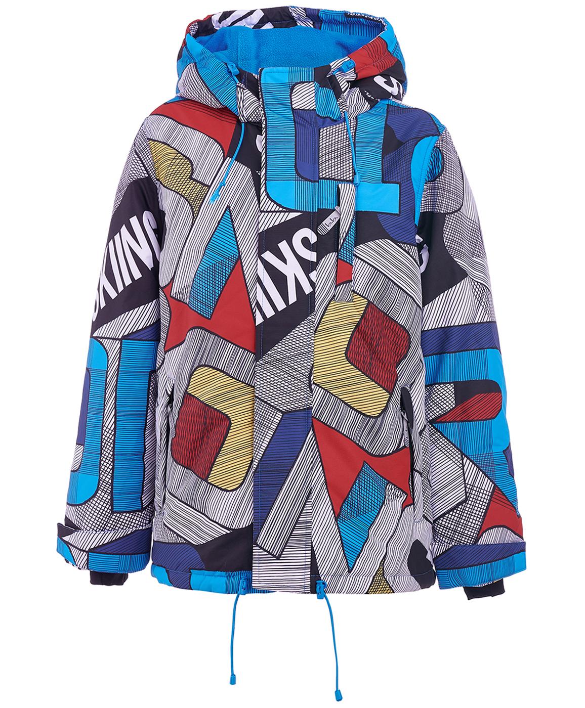 Купить 219BBBA41010013, Серая зимняя куртка с орнаментом Button Blue, BUTTON BLUE Active, голубой, 128, Мужской, ОСЕНЬ/ЗИМА 2019-2020 (shop: GulliverMarket Gulliver Market)