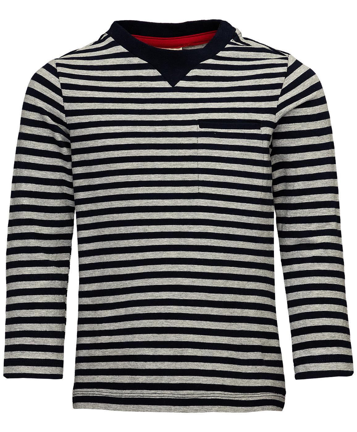 Купить 219BBBC12044005, Серая футболка в полоску Button Blue, серый, 134, Мужской, ОСЕНЬ/ЗИМА 2019-2020 (shop: GulliverMarket Gulliver Market)
