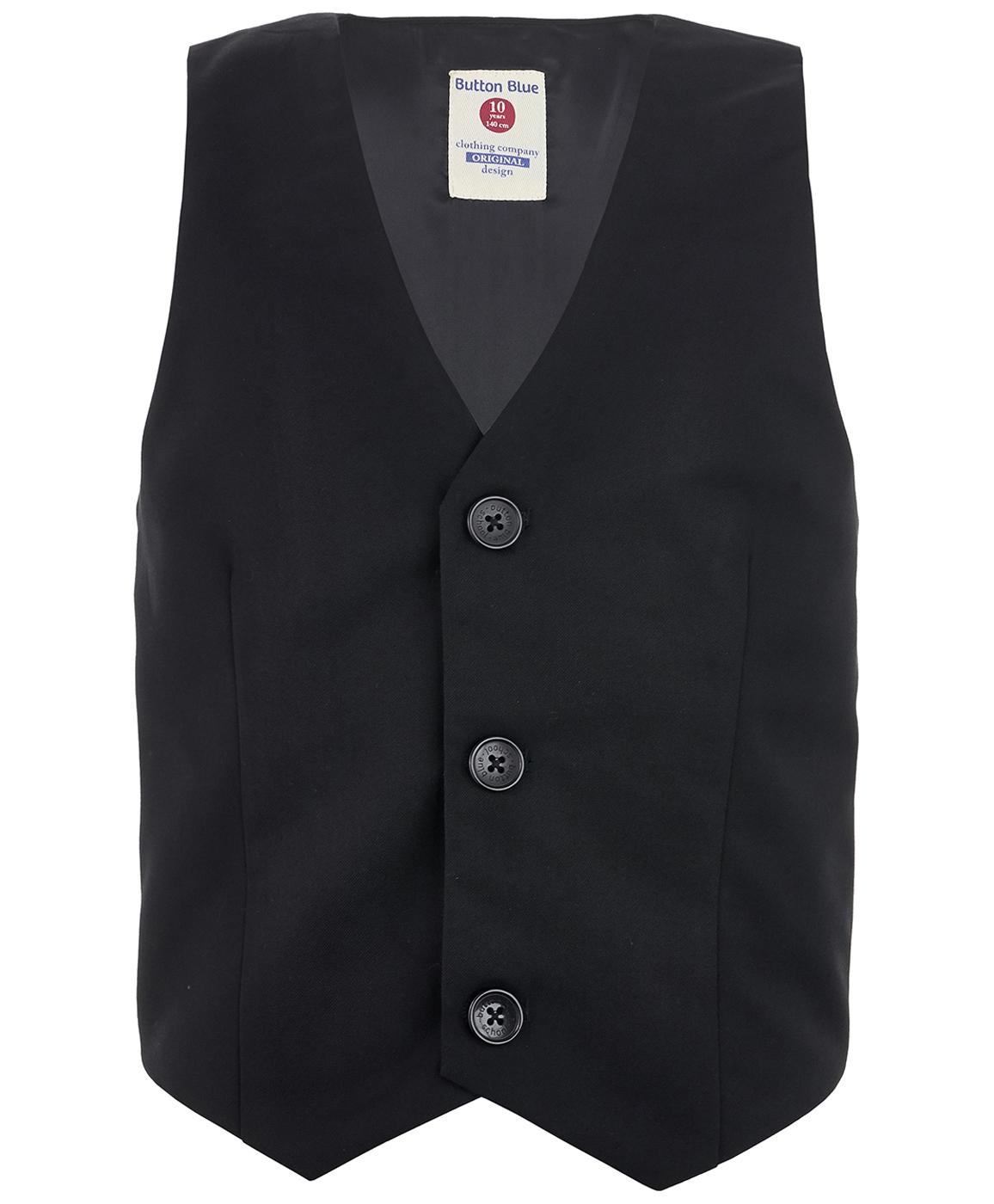 Купить 219BBBS47010800, Черный классический жилет Button Blue, черный, 158, Мужской, ОСЕНЬ/ЗИМА 2019-2020 (shop: GulliverMarket Gulliver Market)