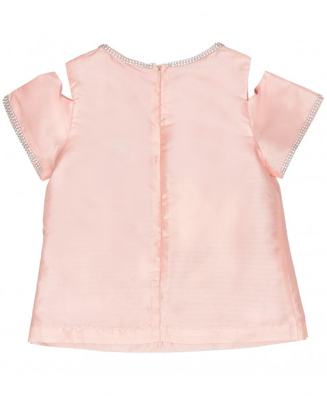 Розовая нарядная блузка Button Blue