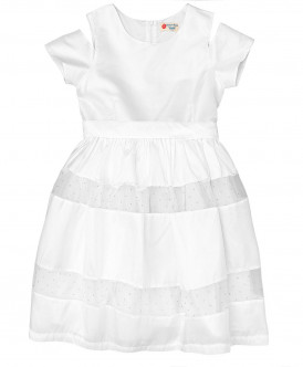 платье button blue для девочки, белое