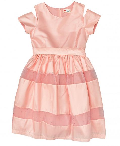 Розовое нарядное платье Button Blue