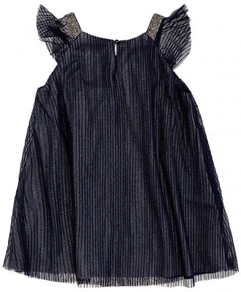 Синее нарядное платье Button Blue